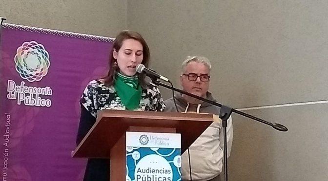 Intervención realizada por Zumba la Turba en la audiencia publica convocada por la Defensoría del Público
