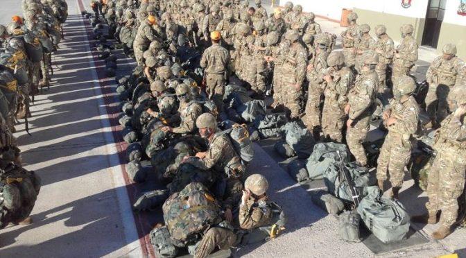 Un sugestivo mega ejercicio militar
