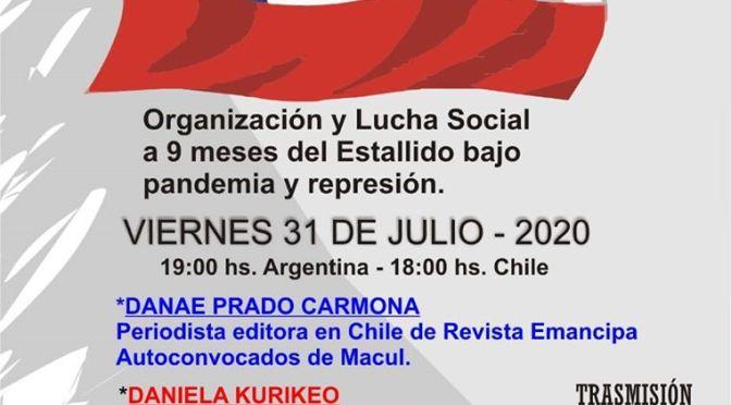 CONVERSATORIO: ORGANIZACIÓN Y LUCHA SOCIAL A 9 MESES DEL ESTALLIDO, BAJO PANDEMIA Y REPRESIÓN